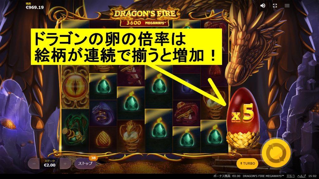 ドラゴンの卵の説明画像。