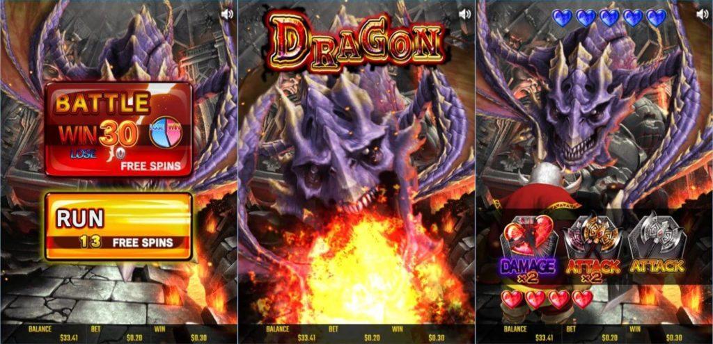 BATTLE DWARFのドラゴンに関するデータ画像。