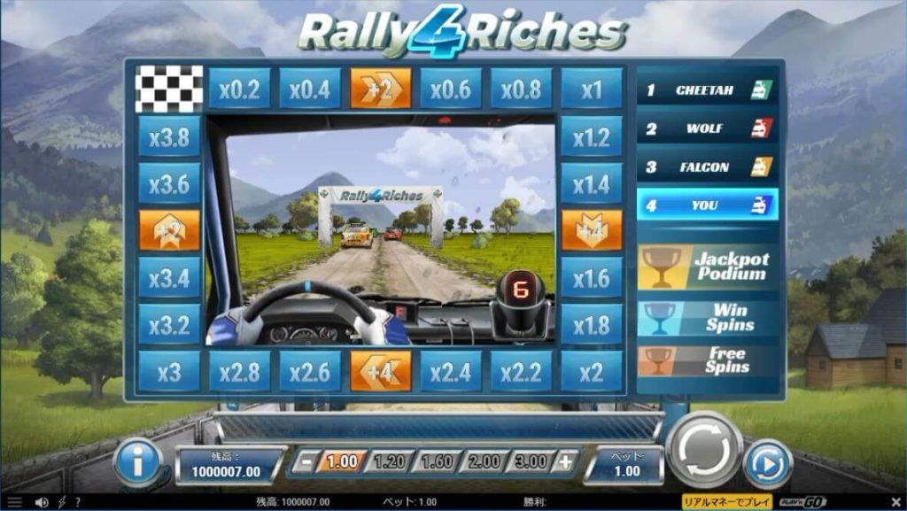 チャンピオンシップレースボーナスが始まり、ドライバーズ視点に切り替わった時の画像。