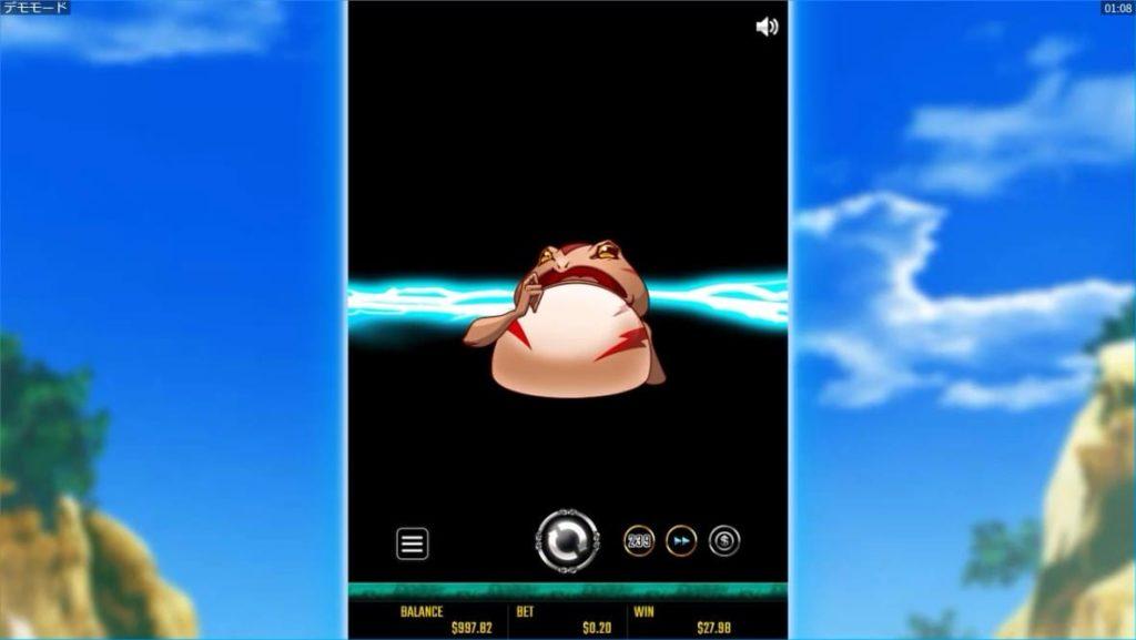 金蛙神Dreams of Goldの終了思わせ連荘発動画像。
