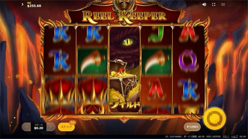 REEL KEEPERのプレイ画面。