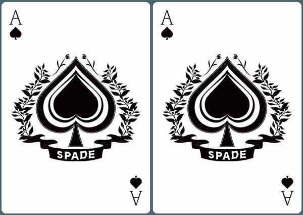スペードAが2枚並んだ画像。