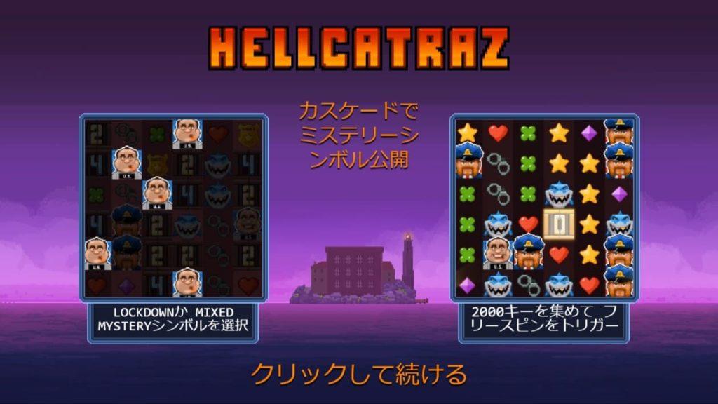 Hellcatrazのオープニング画面。