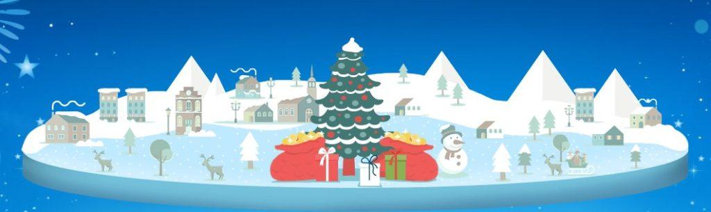 ベラジョンカジノの2019年クリスマスイベントバナー画像。