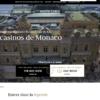 カジノ・ド・モンテカルロのウェブサイト画像。