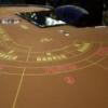 バカラテーブルの画像。