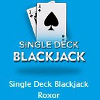 Single Deck Blackjack Roxorのアイコン画像。