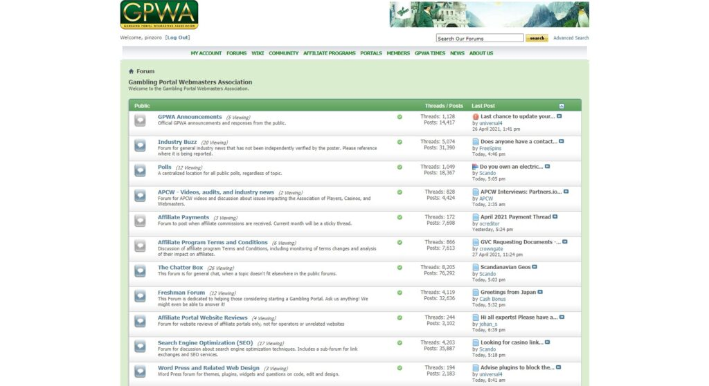 GPWAのパブリックフォーラム。