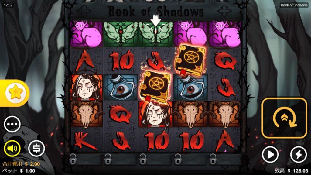 Book of Shadowsのプレイ画像。