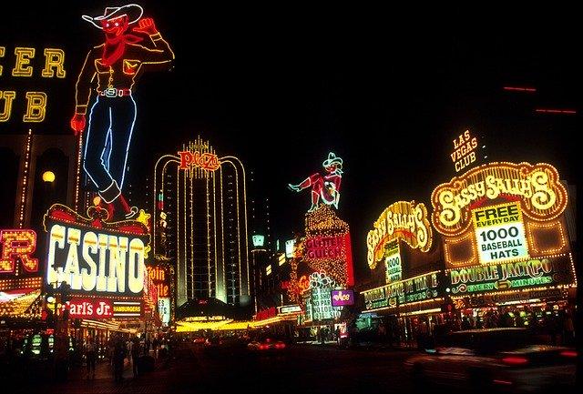 ラスベガスの夜景画像。