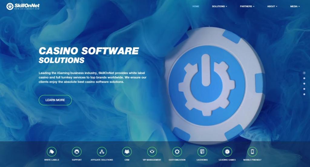 ラッキーニッキー運営会社『Skill On Net社』のウェブサイト画像。