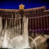 ベラージオホテルの噴水の写真画像。